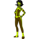 download Superheroine Dark clipart image with 45 hue color