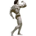 download Posing Bodybuilder clipart image with 135 hue color