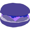 download Hamburger1 clipart image with 225 hue color