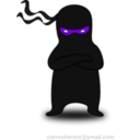 download Ninja clipart image with 225 hue color