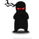 download Ninja clipart image with 315 hue color