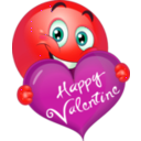 download Happy Valentine Boy Smiley Emoticon clipart image with 315 hue color