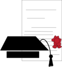 Graduation Cap Certificate Icon