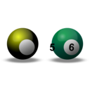 download Snooker Balls clipart image with 45 hue color