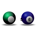 download Snooker Balls clipart image with 135 hue color