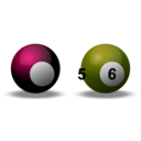 download Snooker Balls clipart image with 315 hue color