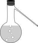 Distilling Flask With Sidearm And Stopper