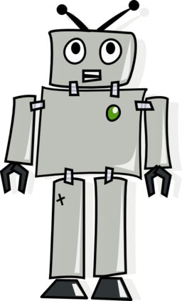 Cartoon robot clipart i2clipart royalty free public domain clipart