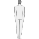 download Male Body Silhouette Back clipart image with 225 hue color