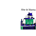 download Altar De Muertos clipart image with 225 hue color