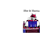 download Altar De Muertos clipart image with 315 hue color