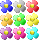 Game Marbles Flowers