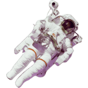 download Astronaut Small Version clipart image with 45 hue color