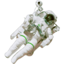 download Astronaut Small Version clipart image with 135 hue color