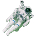 download Astronaut Small Version clipart image with 225 hue color