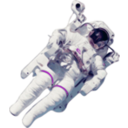 download Astronaut Small Version clipart image with 315 hue color