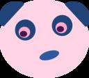 Blue Panda Face