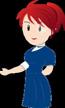 Teacher Blue Dress
