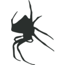 download Spider Silhouette clipart image with 135 hue color