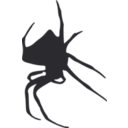 download Spider Silhouette clipart image with 225 hue color