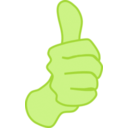 download Thumbs Up Nathan Eady 01 clipart image with 45 hue color