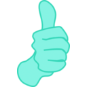 download Thumbs Up Nathan Eady 01 clipart image with 135 hue color