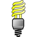 Energy Saver Lightbulb On