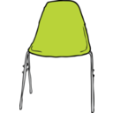 download Modern Chair Front clipart image with 45 hue color