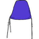download Modern Chair Front clipart image with 225 hue color