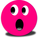 Frightened Smiley Pink Emoticon