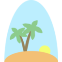 download Island Scene clipart image with 0 hue color