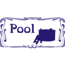 download Pool Sign clipart image with 45 hue color