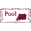 download Pool Sign clipart image with 135 hue color