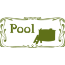 download Pool Sign clipart image with 225 hue color