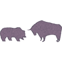 download Bull Bear Variation Ii clipart image with 135 hue color
