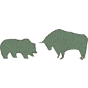 download Bull Bear Variation Ii clipart image with 315 hue color