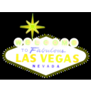 download Las Vegas Sign clipart image with 45 hue color