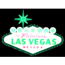download Las Vegas Sign clipart image with 135 hue color