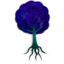 download Simple Tree 2 clipart image with 135 hue color