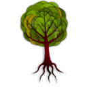 download Simple Tree 2 clipart image with 315 hue color