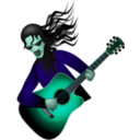 download Guitar Dude clipart image with 135 hue color