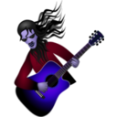 download Guitar Dude clipart image with 225 hue color