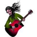 download Guitar Dude clipart image with 315 hue color