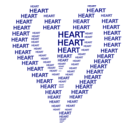 download Heart Figure Done By Words clipart image with 225 hue color