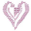 download Heart Figure Done By Words clipart image with 315 hue color