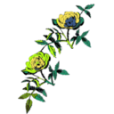download Rose Decoration In Color clipart image with 45 hue color