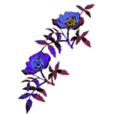 download Rose Decoration In Color clipart image with 225 hue color