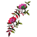 download Rose Decoration In Color clipart image with 315 hue color