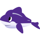 download Dolphin clipart image with 45 hue color