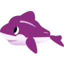 download Dolphin clipart image with 90 hue color